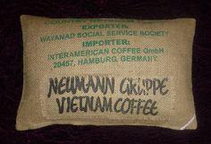 """Kissenbezüge - Kaffeesack Kissenbezug """"NEUMANN II"""",60 x 40cm - ein Designerstück von vansten-design bei DaWanda"""