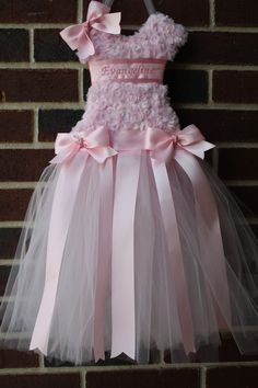 Princess Pink Tutu Bow Holder