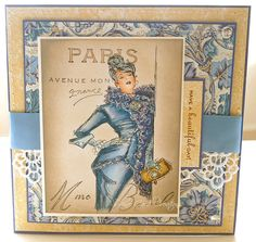 Sabine - Card Creations  Stamps Happen Inc and it's called Paris SocialiteB000, B00, B02, RV10, E000, E00,E02, C7, C5