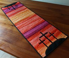 Beautiful Table runner from The Quilting Board easter sunrise