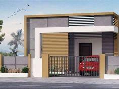 Resultado de imagen para elevations of independent houses Single Floor House Design, House Front Design, Small House Design, Modern House Design, Modern Houses, Front Elevation Designs, House Elevation, Indian House Plans, Independent House