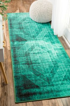 Timika Vintage Inspired Overdyed Rug - Turquoise  by nuLOOM on @HauteLook