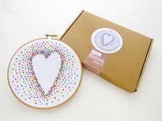 Rainbow Baby Nursery Decor, Love Heart Embroidery Kit, DIY Gift For Mum, LGBT Anniversary Gift, Gift Under 20, Adult Craft Kit, Hoop Art Set by OhSewBootiful on Etsy https://www.etsy.com/listing/464266044/rainbow-baby-nursery-decor-love-heart