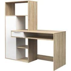 Function Plus 1 Skrivbord Ek/Vit - Tvilum Diy Home Office Furniture, Furniture Deals, Office Decor, Furniture Design, Office Ideas, Door Desk, Home Office Computer Desk, Small Home Offices, Desk With Drawers