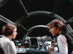 Princess Leia and Han Solo from Star Wars
