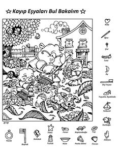 Shake Break Hidden Pictures Puzzle Worksheets For