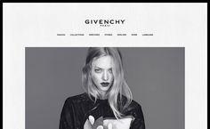 Medium : love the dark border around the Givenchy website