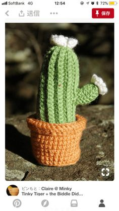How to crochet!!ニットサボテンの編み方 | 編みんぼ Cactus Plants, Friendship Bracelets, Knitting, Crochet, Home, Amigurumi, Cactus, Tricot, Cacti