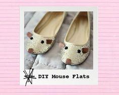 DIY Shoes : DIY Mouse Flats!