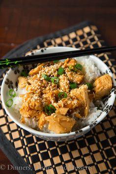 Slow Cooker Honey Sesame Chicken #recipe