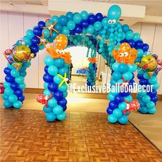 "Exclusive balloon Decor on Instagram: ""Beautiful balloon decorations for your next event! Under the sea theme balloon decor 🎈"""