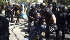 Six people, including officer, injured in Berkeley rioting as leftists attack cops, political foes