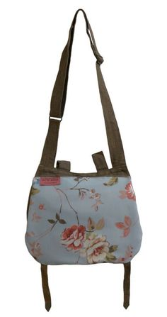 Recycled Army Blue Floral Shoulder Bag