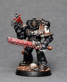 40k - Black Templar Space Marine by Totem Pole