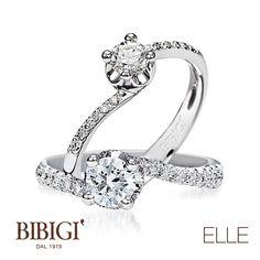 #Bibigi | Collezione #Elle | Anelli in oro bianco e diamanti.