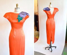 Vintage 1960s COUTURE silk evening gown by storyofthings on Etsy