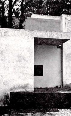 Casa Gálvez, calle Pimentel 10, Chimalistac, México, DF, 1955.  Arq. Luis Barragán. Foto. Armando Salas Portugal - Galvez House, Chimalistac, Mexico City, 1955