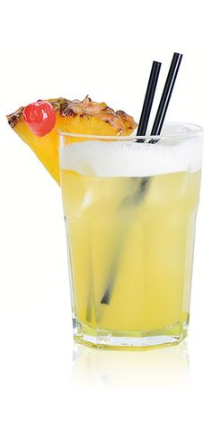 The Elvis: 2 oz. Three Olives Elvis Presley       Coconut Water Vodka,  2 oz. pineapple juice and  ½ oz. seltzer.   Combine all ingredients in a rocks glass filled with ice; stir gently.