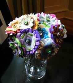 felt flower bouquet tutorial: great tutorial