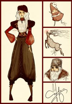 ROTG Fashion: North and other christmassy things by Vilva.deviantart.com on @deviantART