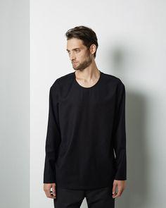Christophe Lemaire Mens long sleeve t-shirt - Mens Fashion at La Garçonne