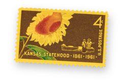 Kansas centennial postage stamp, 1961 Sunflowers