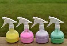 Side walk spray chalk... 1. Add cornstarch to one cup of hot water whisking to mix so that there are no clumps. 2. Add one teaspoon of washable tempura paint and a quirt of dishwashing liquid. Mix well. 3. Pour it into your squirt bottles and shake well. Watch your kids enjoy making designs and pictures on your driveway. I always spray my driveway down when we are done. After you let your spray sit a while it will separate. Shake it really well before you use it each time.