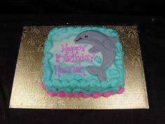 Mini Birthday Cake - the perfect size for four people to share Dolphin Birthday Cakes, Dolphin Birthday Parties, Dolphin Cakes, Dolphin Party, 9th Birthday Parties, Dolphin Food, Birthday Ideas, Birthday Stuff, 7th Birthday