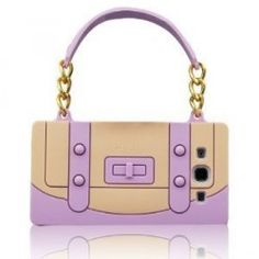 I Need 3D Cute Light Purple Handbag Soft Silicone Case Cover Compatiable for Samsung Galaxy S3 Siii 9300