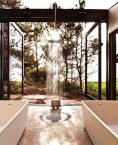 Outdoor shower april-showers-soakers