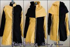 Black and Gold Cotehardie by DaisyViktoria