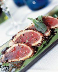 Trancio di tonno alle olive e capperi