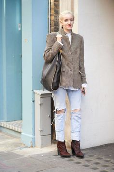 Occupation: Fashion Editor Jeans: Levi's Boots: Topshop Jacket: Gerry Weber Bag: Stella McCartney