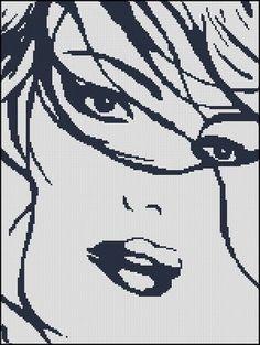 Луиза схема скачать монохром девушка вышивка
