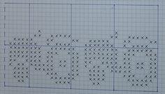 Bilderesultat for strikke diagram Knitting Charts, Knitting Stitches, Baby Knitting, Knitting Patterns, Hat Patterns, Beaded Cross Stitch, Cross Stitch Charts, Cross Stitch Patterns, Fair Isle Chart