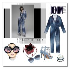 """Fendi contrast piping cady jumpsuit!"" by faten-m-h ❤ liked on Polyvore featuring Alima, Fendi, Valentino, Anja, Dolce&Gabbana, Gucci and Topshop"