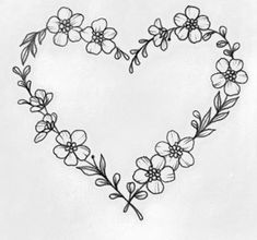 - Best Picture For diy home decor For Your Taste You are looking for something, and it is going to - Neue Tattoos, Body Art Tattoos, Small Tattoos, Hand Embroidery Patterns, Embroidery Art, Embroidery Designs, Herz Tattoo, Wreath Drawing, Floral Drawing