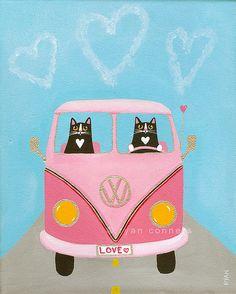 pink love bus by Kilkennycat, via Flickr
