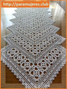 Camino de mesa a crochet Un Camino de mesa a crochet es siempre bien valorado…