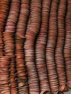 Styling with Terracotta Tints - The Lane Textures Patterns, Color Patterns, Color Terracota, Stacked Pots, Color Stories, Clay Pots, Wabi Sabi, Chai, Color Inspiration
