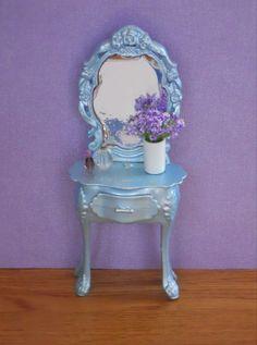 Dollhouse Furniture Shabby Chic Vanity Accessories Bedroom Miniature Plant | eBay