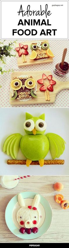 Adorable Animal Food Art
