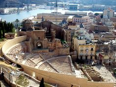 Anfiteatro romano.  Cartagena. Murcia.