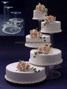 [ Tier Cascading Wedding Cake Stand Stands Set 21 ] - Best Free Home Design Idea & Inspiration Wedding Cake Base, Wedding Cake Prices, Wedding Cake Stands, Fall Wedding Cakes, Wedding Cakes With Cupcakes, Beautiful Wedding Cakes, Gorgeous Cakes, Cupcake Cakes, Hazelnut Cake