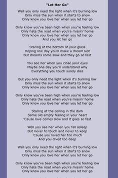 let her go lyrics full - Yahoo Image Search Results Let Her Go Lyrics, Great Song Lyrics, Lyrics And Chords, Song Lyric Quotes, Music Quotes, Music Songs, Love Songs, Soul Music, Music Is Life