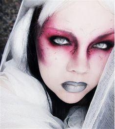 Jangsara's tutorial based on MAC's Halloween zombie face chart.