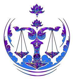 Libra, of harmony and balance.                                                                                                                                                     More