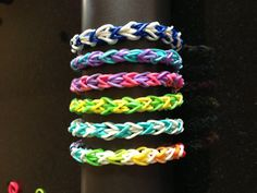 Rubber Band Bracelet - Custom Double Diamond