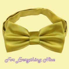 Metallic Gold Formal Groomsmen Groom Wedding Mens Neck Bow Tie
