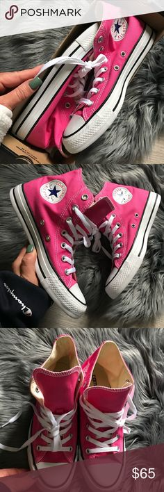 """NWB 💗CONVERSE ALL STAR HI TOP VARIOUS SIZES BRAND NEW CONVERSE ALL STAR HI TOP VARIOUS SIZES 100% AUTHENTIC. """"PINK PAPER""""  SHIPS SAME OR NEXT DAY FROM MY SMOKE FREE HOME.   REASONABLE OFFERS WILL ONLY BE CONSIDERED THROUGH THE OFFER BUTTON. ANY OFFERS IN COMMENTS WILL BE IGNORED.   BUNDLE DISCOUNT SUBJECT TO MY APPROVAL. ✨   TRUSTED RELIABLE SELLER. ALL PRODUCT IS 100% AUTHENTIC & DIRECT FROM CONVERSE Converse Shoes Sneakers"""
